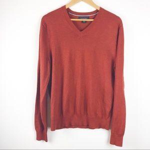 🌿 Banana Republic Orange Merino Wool Sweater